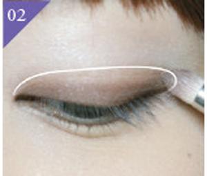 眼妆的画法步骤图解