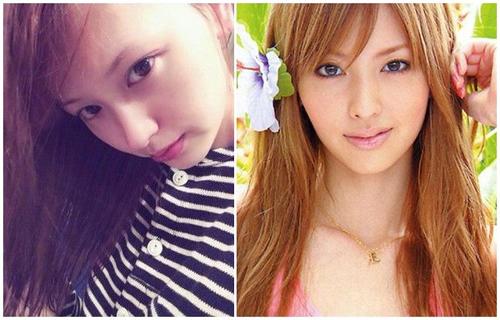 日本10位知名艺人美女素颜生活照对比(3)