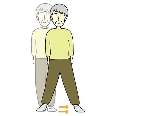 老人走路動畫分解圖