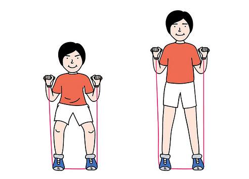 4入门弹力带锻炼方法图解图(2)