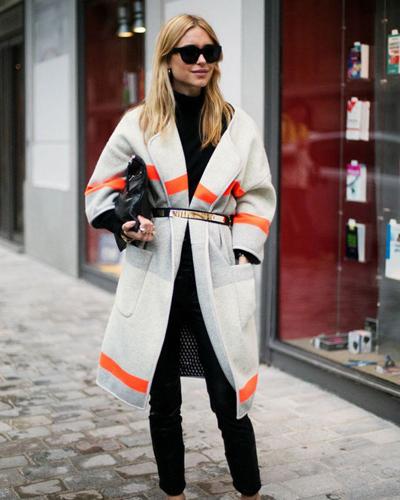 秋季女装新款毛衣外套中长款