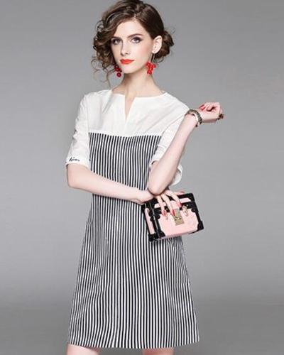 女夏装连衣裙宽松版图片