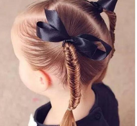 儿童扎什么辫子好看?儿童扎头发大全简单的好看的步骤(5)-www.xixinv.