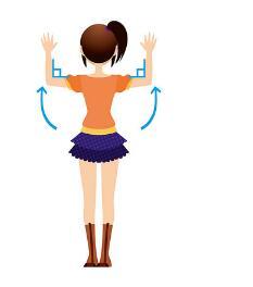 正常人的肩胛骨背部图