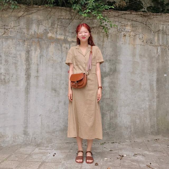 棉麻料洋装