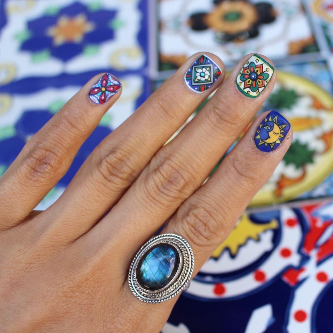 指甲彩绘流行图案
