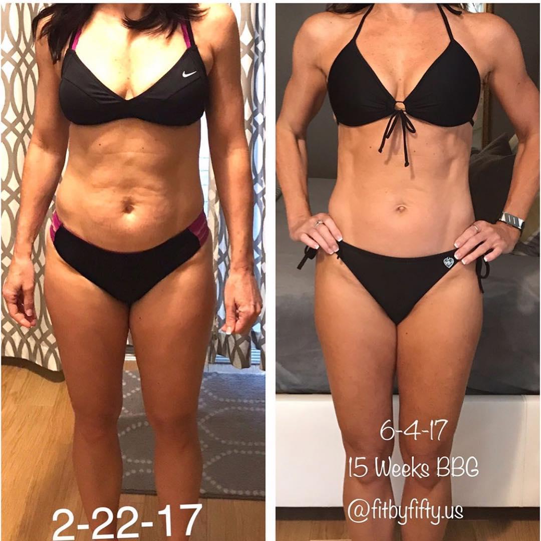 减肥成功对比