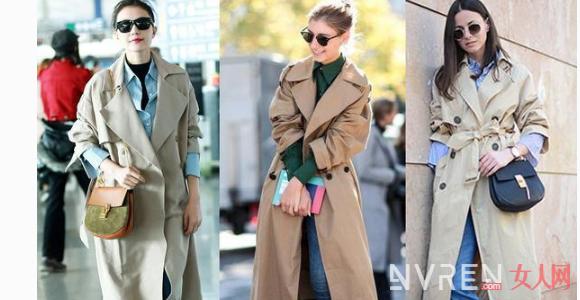 女生衣橱必备单品30件 卡其色风衣搭配图片女