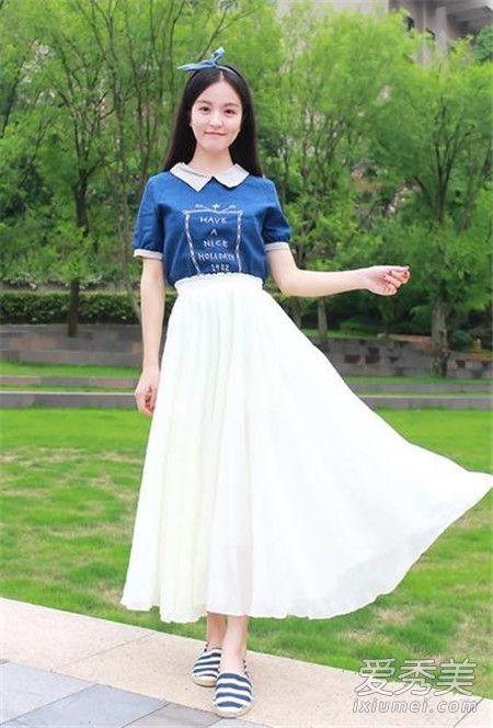 长款白纱裙配什么上衣 长款白纱裙上衣搭配图片