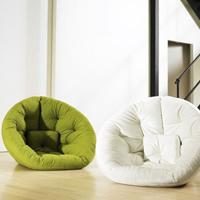 坐与卧兼备的鸟巢沙发床