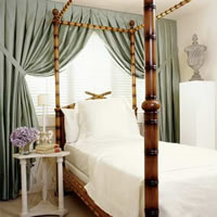 低碳生活方式 丝绸窗帘为自然风格加分