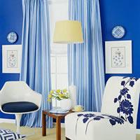 神秘的蓝色清新怡然的美居