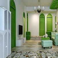 嫩绿或粉蓝喷绘绘出小清新家具