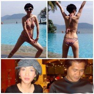歌手齐秦小24岁娇妻孙丽雅秀比基尼照片