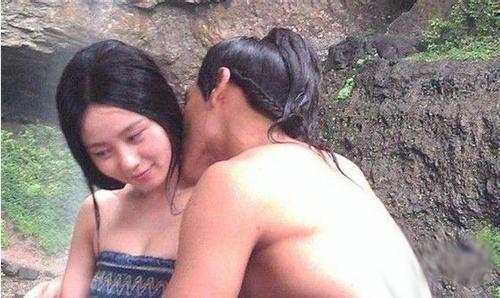 曝光电视剧《星月传奇》彭于晏与刘诗诗吻戏图片