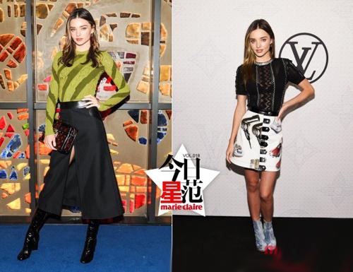 第一超模米兰达·可儿高挑修身秋装穿搭示范