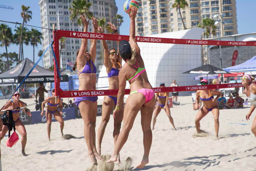 美国女子沙滩排球摔跤撕内衣赛全集
