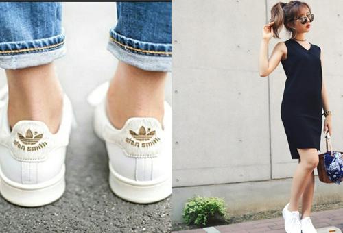 女生小白鞋