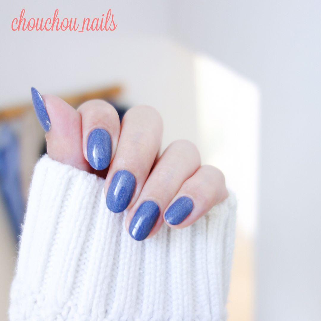 蓝色小清新美甲